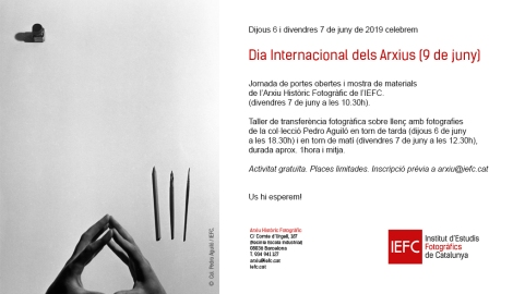 Invitación para el taller de transferencia fotográfica en el IEFC